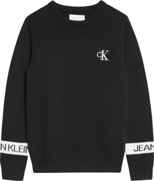 Intarsia Logo Sweater logo